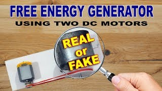 Secret Behind Generating Free Energy Using Motors Revealed : Real of Fake