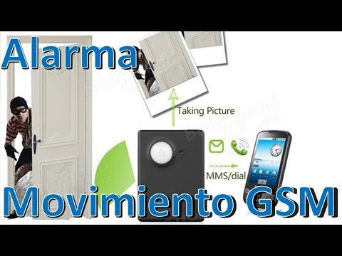 Sensor De Movimiento PIR Inalambrico GSM Alarma Por Celular