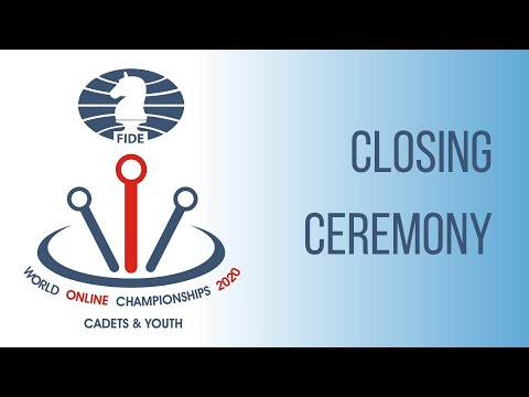 Closing Ceremony of the FIDE Online World Cadets & Youth Rapid Championships
