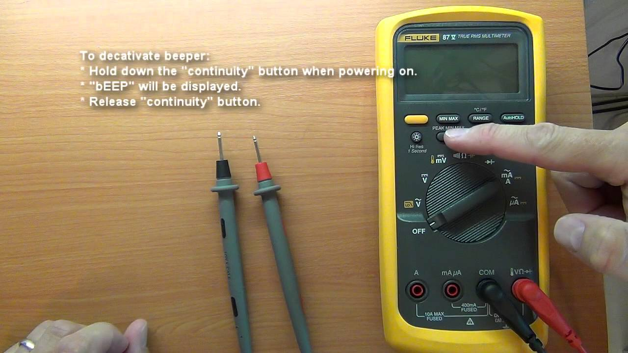 Fluke 87 V / Fluke 87-5 / 28-II Power on options / features (Not obviously  visible features)
