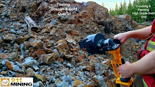 Crushing High Grade Gold Quartz Ore With A Portable Rock Crusher!