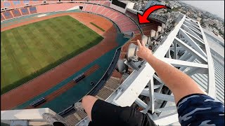 CLIMBING HUGE STADIUM IN BANGKOK & PLAYING ON THE PITCH!