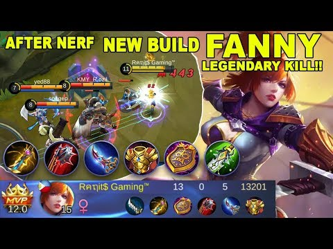 New Build Fanny Legendary Kill (After Nerf) - Mobile Legends Indonesia