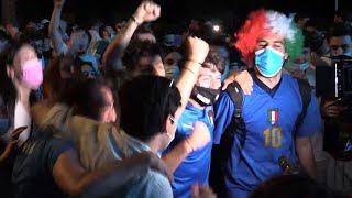 Euro 2020, ai Fori Imperiali la gioia incontenibile per la vittoria azzurra