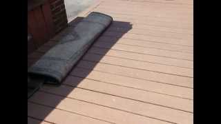 Deck Restore Applying Done By Home owner after 1 year part 2, 2013