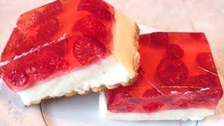 Десерт желейный торт с ягодами Летнее наслаждение без выпечки