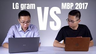So sánh LG gram 2018 và Macbook Pro 2017 13