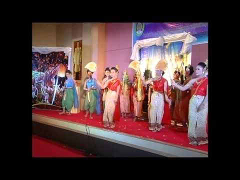 การแสดงชุดวัฒนธรรมภาคกลาง สาขานาฏศิลป์และการแสดง มรภ นครศรีฯ