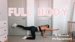 18 Min FULL BODY Workout! Apartment Friendly, No Equipment, Beginner Level
