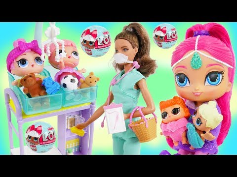 Don't Wake Shimmer and Shine LOL Dolls Morning Bedtime Routine Barbie Surprise Squishy Kawaii DIY!