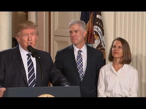 Trump's Supreme Court Pick Is: Neil Gorsuch.