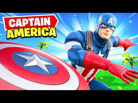 *NEW* CAPTAIN AMERICA Arrives In Fortnite! (EPIC)