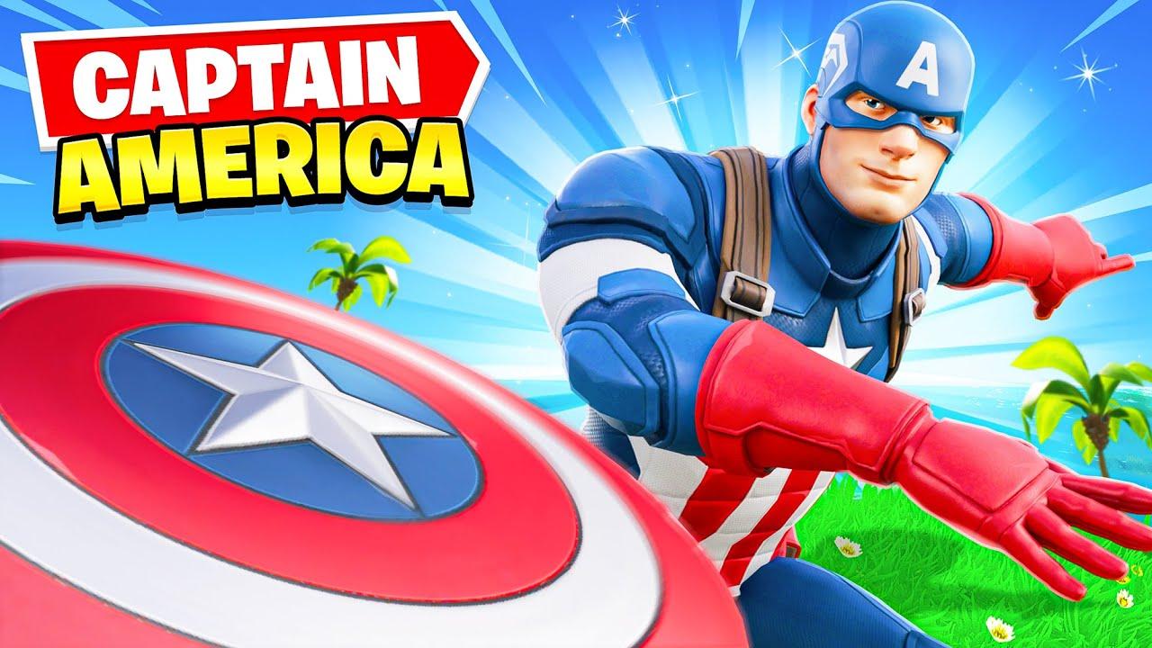 *NEW* CAPTAIN AMERICA arrives in Fortnite! (EPIC)