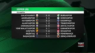 23. Hafta Fikstür ve Puan Durumu - Süper Lig