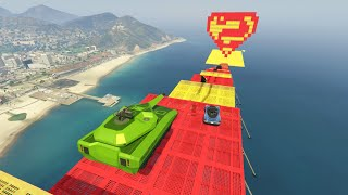 MEGA RAMPA IMPOSIBLE NIVEL SUPERMAN!! - GTA V ONLINE