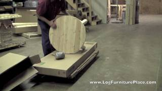 Cedar Looks by Rustic Natural Cedar Round Log Coffee Table