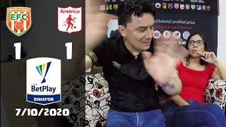 Reacciones de Envigado 1 vs America de Cali 1 | Liga Betplay 2020