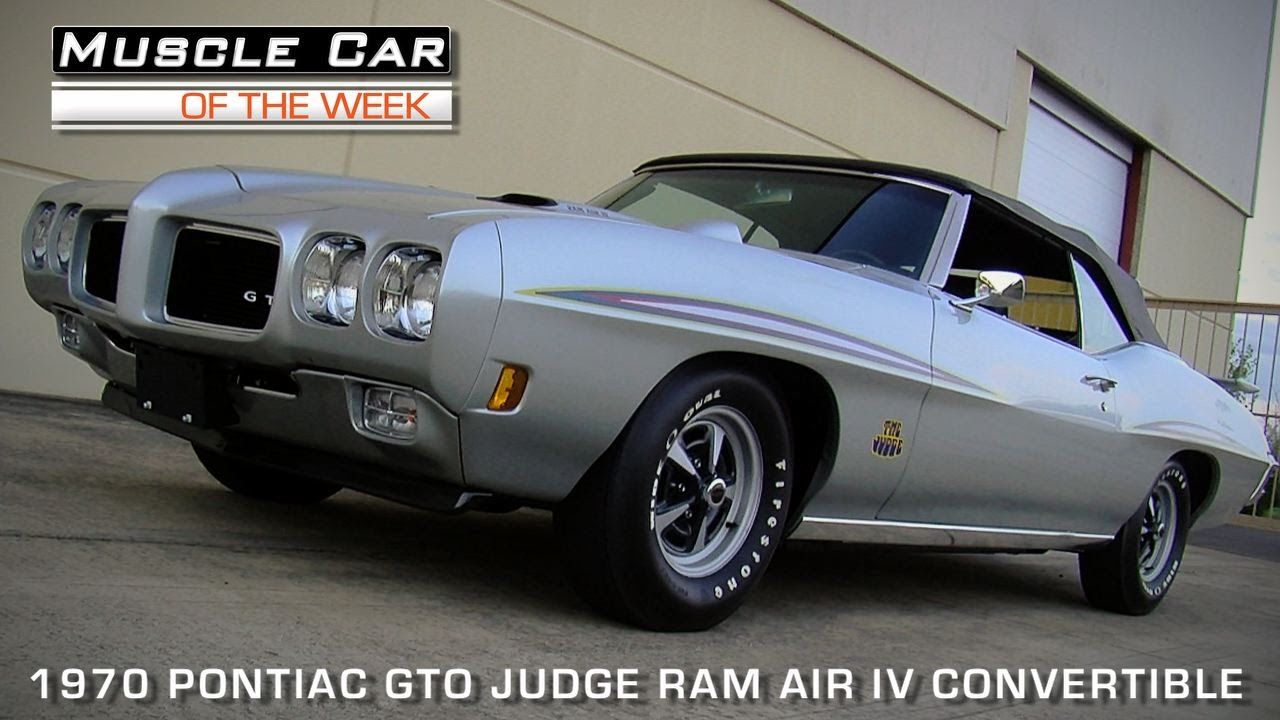 Muscle Car Of The Week Video Episode #93: 1970 Pontiac GTO Judge ...