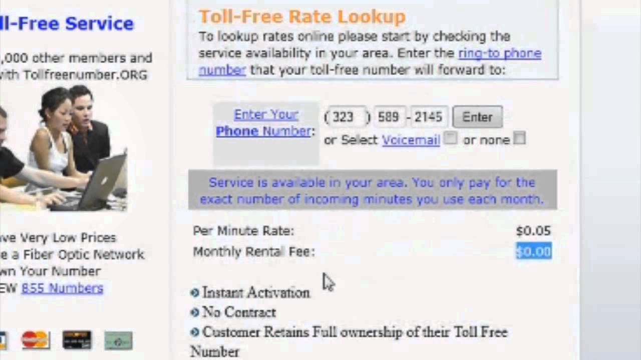 How To Get Your Own Toll Free Numbers / 800 Numbers with No ...