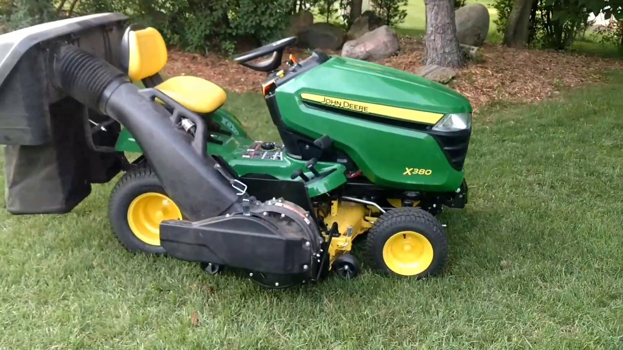 My John Deere X380 Lawn Tractor With The Mulcher Flow Bagger
