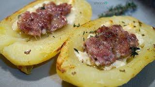 444 - Patate al forno ripiene di salsiccia...ecco a voi un'altra miccia! (ricetta gustosa e facile)