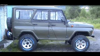 ХАЙ-ДЖЕК в УАЗ HUNTER и нестандартные колеса