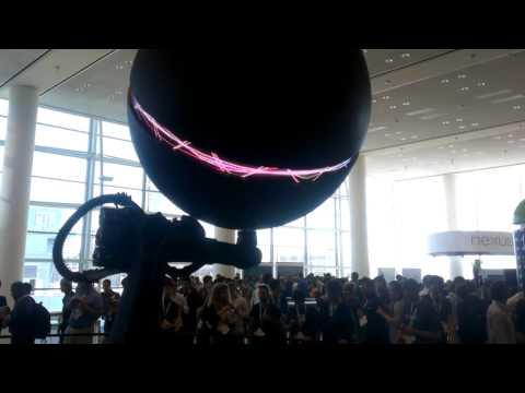 Gigantic Nexus Q at Google I/O 2012