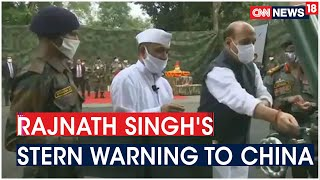 Rajnath Singh In Sikkim, Says 'Won't Let Anyone Take Even an Inch of Our Land' | CNN News18