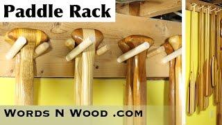 Easy DIY Canoe Paddle Rack (WnW #69)