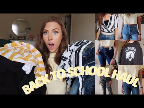BACK TO SCHOOL TRY ON HAUL | EXPRESS, BRANDY MELVILLE, & MORE!