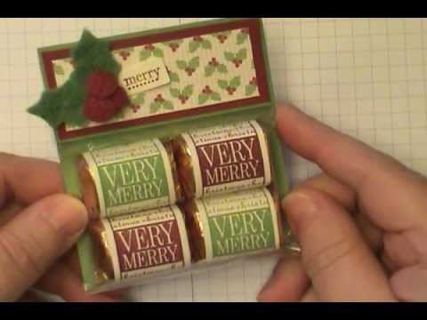 Stampin' Up! Very Merry Nugget Holder by Dawn O