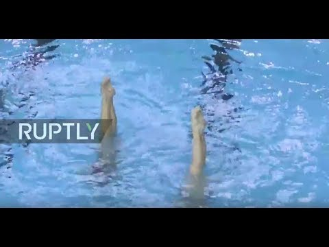 LIVE: Watch synchronized swimming world champions train live