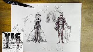 Characteristics of Male and Female/ How to draw a princess and a knight(A