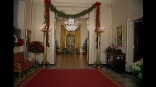 Christmas decorations throughout the White House on December 20, 1982