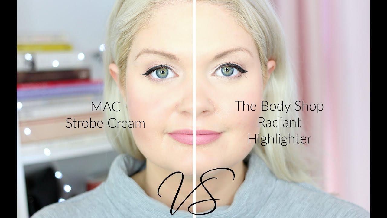 Dupe Mac Strobe Cream Vs The Body Shop Radiant