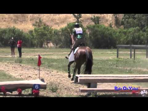 155XC Elaine Sanders on Red Baron JR Beginner Novice Cross Country Shepherd Ranch June 2014