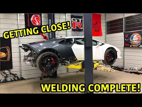 VIDEO: Rebuilding A Wrecked Lamborghini Huracan Part 11