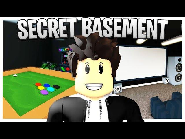 I Built a SECRET BASEMENT In My Bloxburg House! (Roblox Basement Cinema, Arcade and Hot Tub!)