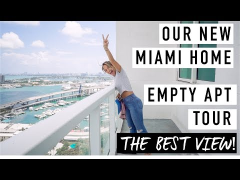 Empty Apartment Tour In DOWNTOWN MIAMI // Vicky Justiz