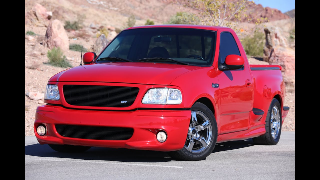 2001 ford f150 svt lightning supercharged lowered burnout test drive viva las vegas autos