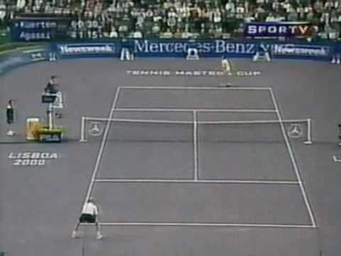 Guga Kuerten Andre  Agassi Master cup 2000