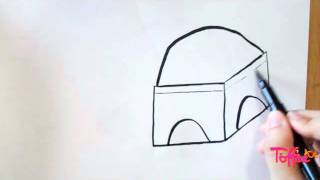 How to draw the Mazar e Quaid