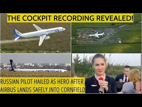 MIRACLE LANDING! How Cool Headed Russian Pilot Glided A320 Down To Safety Into Cornfield