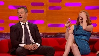 Matt Damon's ponytail - The Graham Norton Show: Series 18 Episode 1 - BBC One