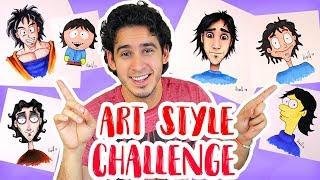 Me Dibujo en 6 Estilos Diferentes | ART STYLE CHALLENGE | HaroldArtist