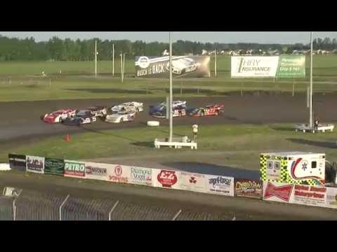Red River Valley Speedway 06/24/2016 - NLRA Late Models Heat 3