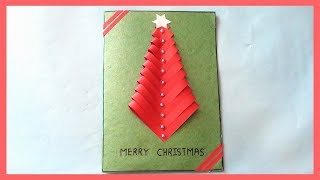DIY Paper Christmas Tree Gift Card || How to Make Greeting Card Idea