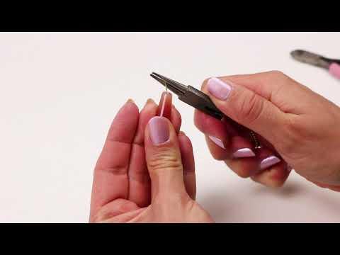 Elaboración de bisutería: 2 maneras de hacer una anilla a un bastón ♡ DIY
