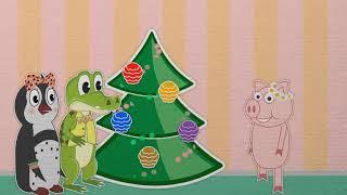 Уроки от Пинги и Кроки - 10 серия - С новым годом- Веселый и познавательный мультсериал
