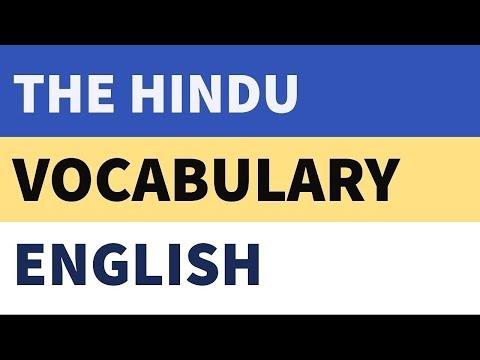 Vocabulary - Hindu Newspaper - Learn English Words - Part 8